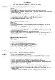 Maintenance Technician Resume Sample Shift Maintenance Technician Resume Samples Velvet Jobs