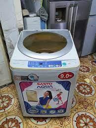 Máy Sanyo 9kg lồng nghiêng 10... - Bán Máy Giặt Cũ Tại Hà Nội