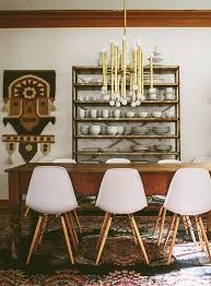 Kelly And Troy's Long Farm Table Flanked By Modern Chairs