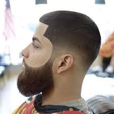 andyauthentic buzzcut lineup fade beard