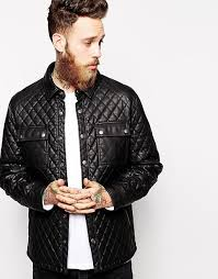 ASOS | ASOS Faux Leather Quilted Jacket &  Adamdwight.com