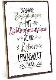 Typestoff Holzschild Mit Spruch Gute Freunde Beste Freunde Und Du