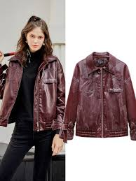synthetic leather jacket share