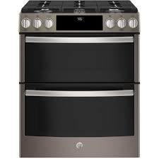 ge profile 67 cu ft slidein smart gas range with self ge profile double oven61