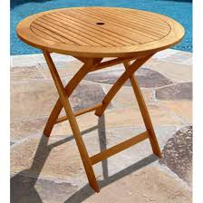 nice round wood patio table patio design 396