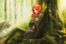 fantasy art women redhead dota 2 windranger wallpapers hd