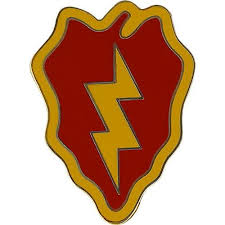 Identification 25th Combat Service Badge Usamm Infantry Division