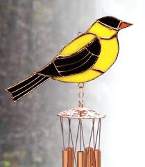 glass windchimes goldfinch stained wind chimes uk glass windchimes how to make