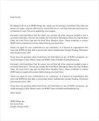 Thank You Letter For Donations Mesmerizing 48 Thank You Letter Example Templates Free Premium Templates