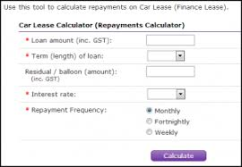 car leases calculator novated lease calculator