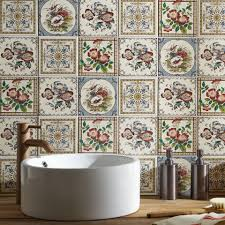 traditional bathroom tile ideas. Say It With Flowers Traditional Bathroom Tile Ideas