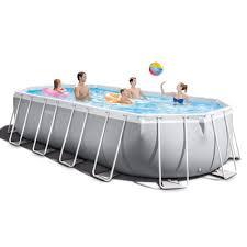 <b>Intex</b> - 20 Foot <b>Prism Frame Oval</b> Pool Se- Buy Online in Cayman ...