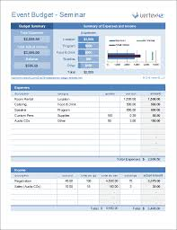 Budget Layout Example Event Budget Template For Excel