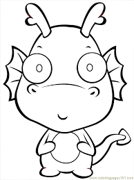 Small Picture Cute Dragon Coloring Pages GetColoringPagescom