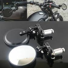 "Universal <b>Motorcycle 7/8</b>"" <b>Handle</b> Bar End Rearview Side Round ..."