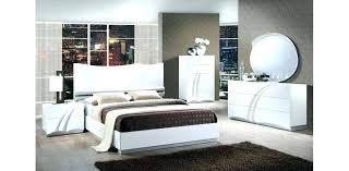 White Modern Bedroom Sets Furniture Brilliant Set Glamorous Ashley ...