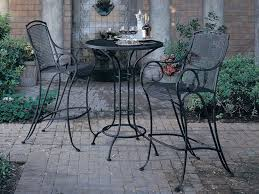 wrought iron patio furniture black metal