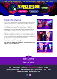 Hours Of Operation Design Web Design For Arcade Video Game Website Design Web Design