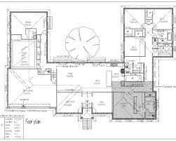 U Shaped House Plan with Courtyard More
