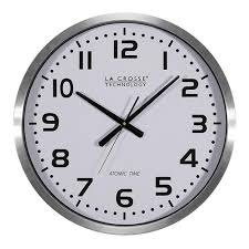 la crosse xl 20in atomic aluminum clock 404 1220