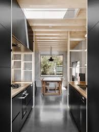 architectural kitchen designs. Perfect Kitchen Black Kitchen Polished Concrete Plywood Open Shelves Modern Kitchen  Design Architectural Design  Fancy NZ Blog Intended Designs T