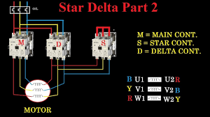 star delta starter motor control with circuit diagram in hindi 3 phase motor starter wiring star