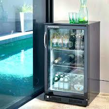 glass door front refrigerator bar beverage refrigerator under