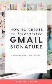 Interactive Gmail Signature Course Creator Email