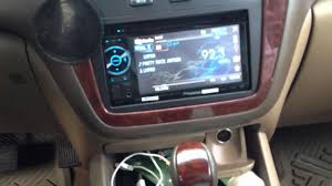 Acura MDX with double din aftermarket radio - YouTube