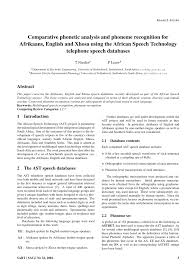 Botswana, lesotho, mozambique, namibia, south africa, swaziland. Pdf Comparative Phonetic Analysis And Phoneme Recognition For Afrikaans English And Xhosa Using The African Speech Technology Telephone Speech Databases