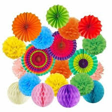 Hanging Paper Flower Balls Details About Colorful Paper Flower Honeycomb Hanging Balls Pom Fan Tissue Party Decorations