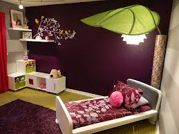 Purple Inspired Bedrooms Purple Wood Bedside Table White Bed Sheet Rooms With Purple Walls
