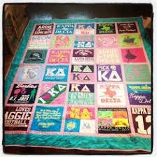 Too Many T-shirts | Shirt quilts, Sorority and Delta zeta & Tshirt quilt with border between squares. Looks cleaner and neater. The eye  can rest Adamdwight.com