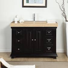 Silkroad Exclusive 48-inch Integrated Travertine Stone Single Sink ...