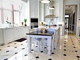 White Kitchen Tile Floor Black And White Tile Kitchen Floor Homes Design Inspiration