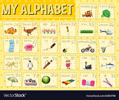 My Alphabet Chart Alphabet Chart With Letters And Words