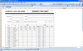 Weekly Timesheet Spreadsheet Bi Template Biweekly Time Sheet With