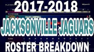 2017 2018 Jacksonville Jaguars Roster Breakdown 5 11