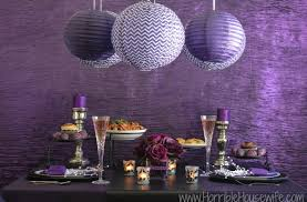 diy purple paper lantern tutorial for a dark romance valentine s day tablescape or purple party