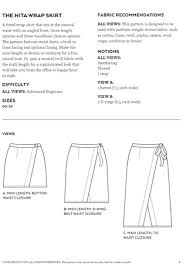 Wrap Skirt Pattern Best Nita Wrap Skirt Sewing Pattern By Sew DIY