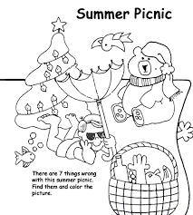 Small Picture Summer Picnic Coloring Page crayolacom