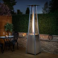 stainless steel patio heaters. Stainless Steel Living Flame Gas Patio Heater Heaters