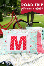 Free Pillowcase Pattern Extraordinary Road Trip Pillowcase Pattern Free Sewing Tutorial The Polka Dot