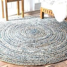 round natural rug handmade braided fiber jute and denim rubber pad canada