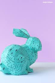 diy paper bunny with template the rabbit looks adorable and you can hide small easter