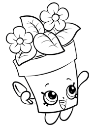 Peta Plant Shopkin Coloring Page Free Printable Coloring Pages