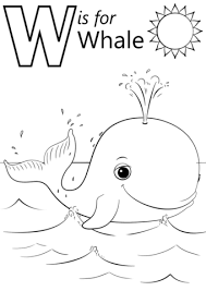 Small Picture W is for Whale coloring page Free Printable Coloring Pages