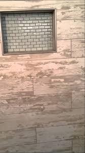 custom wood tile shower