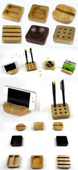 Business Cards Display Stands Bamboo Wooden Modular Pen Pencil Holder Stand iPhone Smart Phone 90