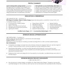 Interior Design Resume Format Pdf Examples Objectives Intern